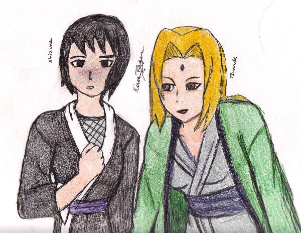 Shizune and Tsunade by KirosRazer