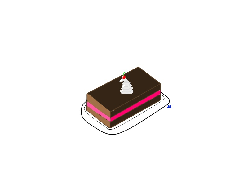 Chocolate Cake Pixel Art : Pixel Chocolate Cake by JanaScenester on deviantART