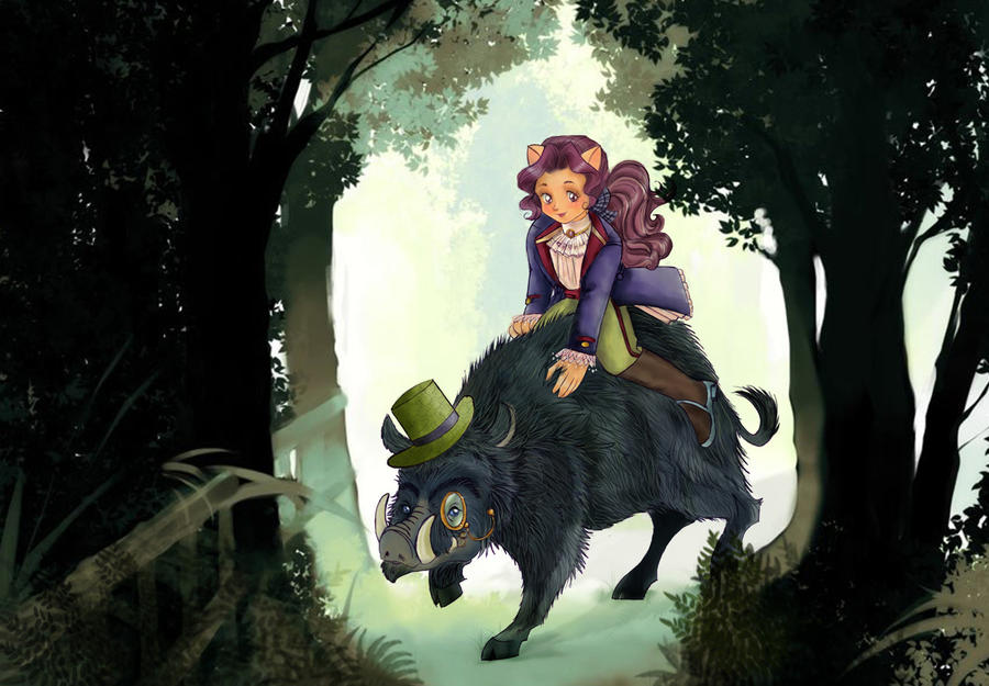 A Boar-ing ride in the forest