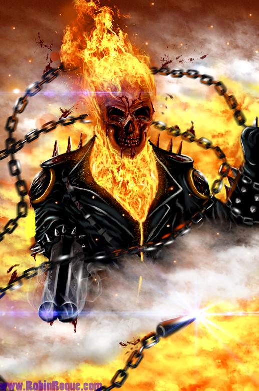 Ghost Rider - A4/A3 Digital Art Print | Digital art prints ...  |Ghost Rider Digital Painting Photoshop