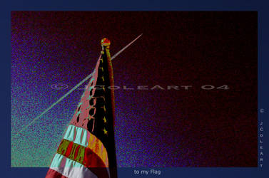 to my Flag by JColeArt