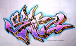 skitzo graff piece