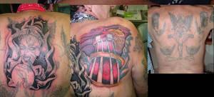 gypsy back piece tattoo