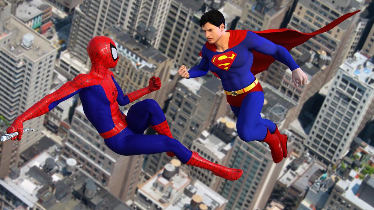 Superman vs The Amazing Spider-Man by kevmann on DeviantArt