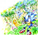 Sonic WaterColours xD