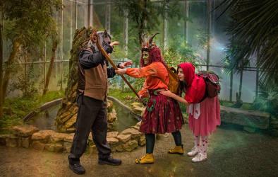 Elfia Arcen Roodkapje en de boze wolf
