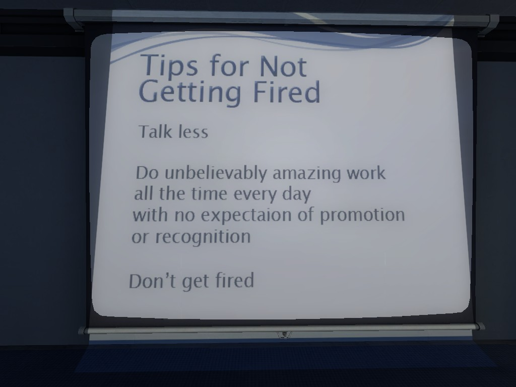tips for not getting fired by sillyinsanegamer on tips for not getting fired by sillyinsanegamer