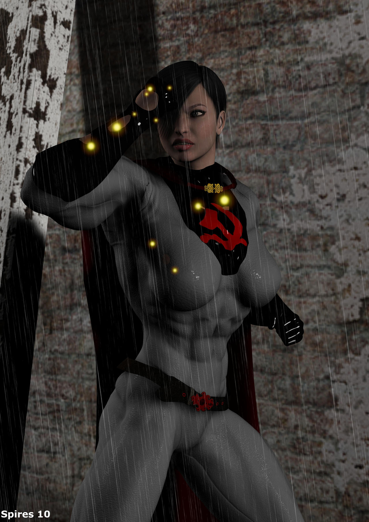 Soviet Superwoman vs. 9mm's by Soviet-Superwoman