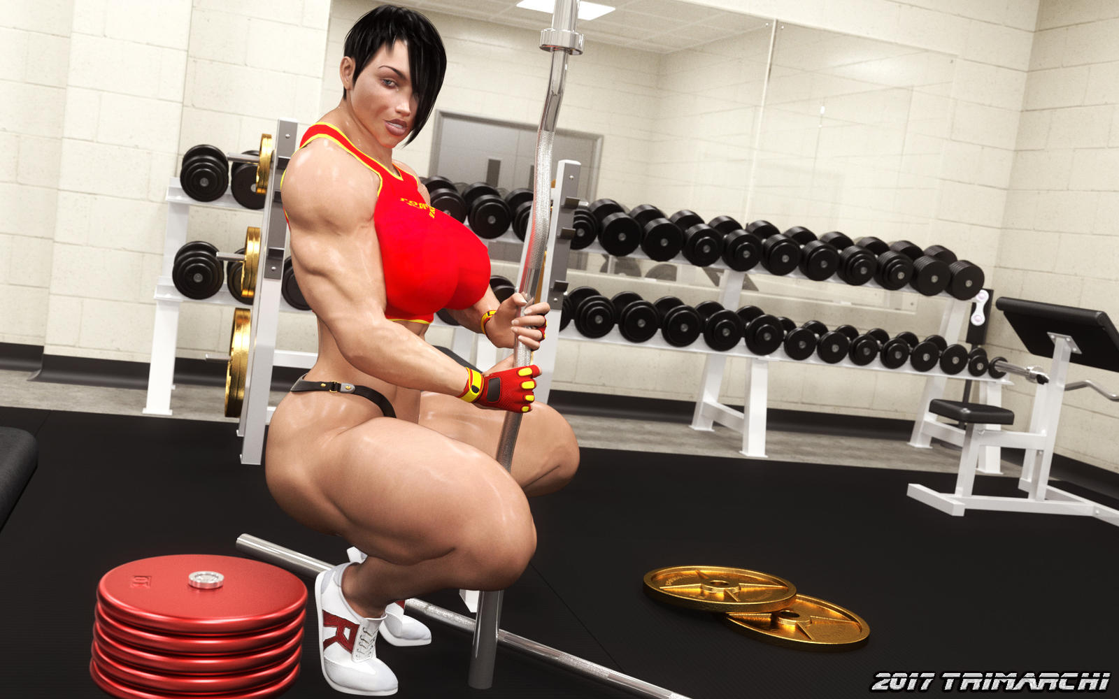 Olga's High-Intensity Workout, stage four by Soviet-Superwoman