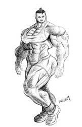 Post Workout Sketch by Soviet-Superwoman