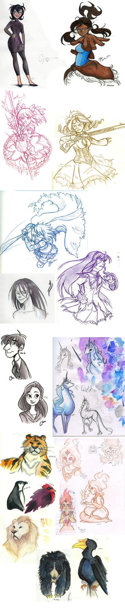 Sketch Dump 1 by neofeliss