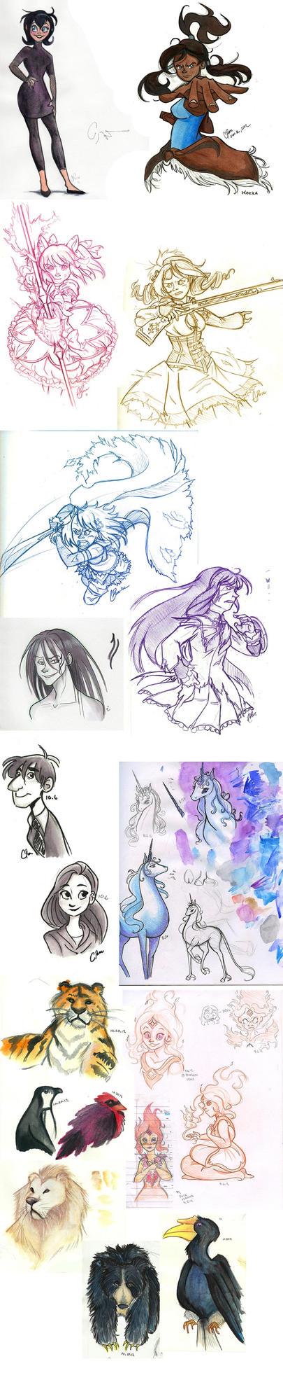 Sketch Dump 1 by neofeliss