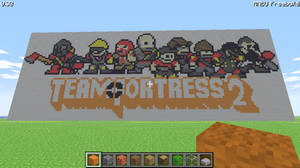 Team Fortress 2 Pixel Art By A Unknown Person