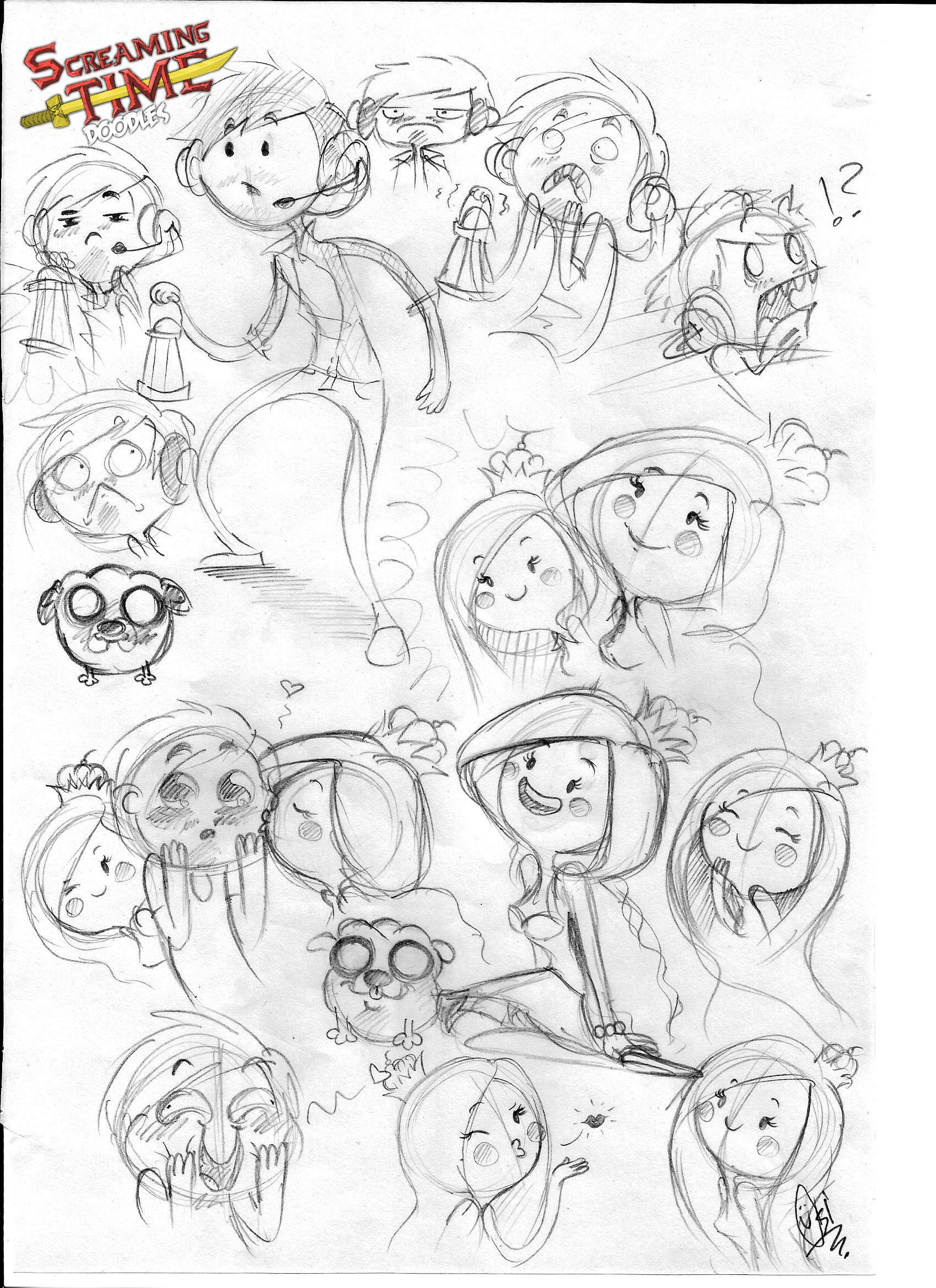 Scribblenetty Drawing : Screaming time doodles pewdiepie and cutiepie by