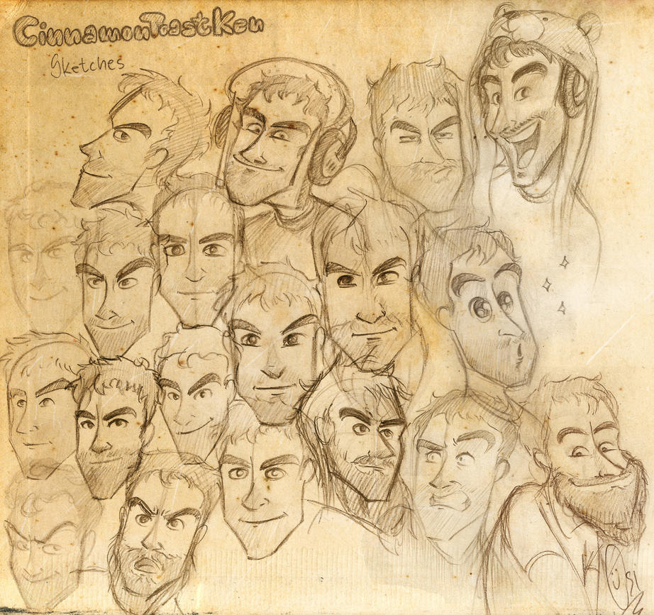 Scribblenetty Drawing : Cinnamontoastken sketches by scribblenetty on deviantart