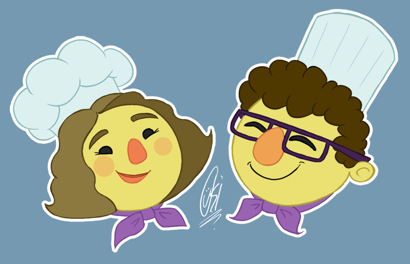Mandy and Bob - Overcooked by ScribbleNetty