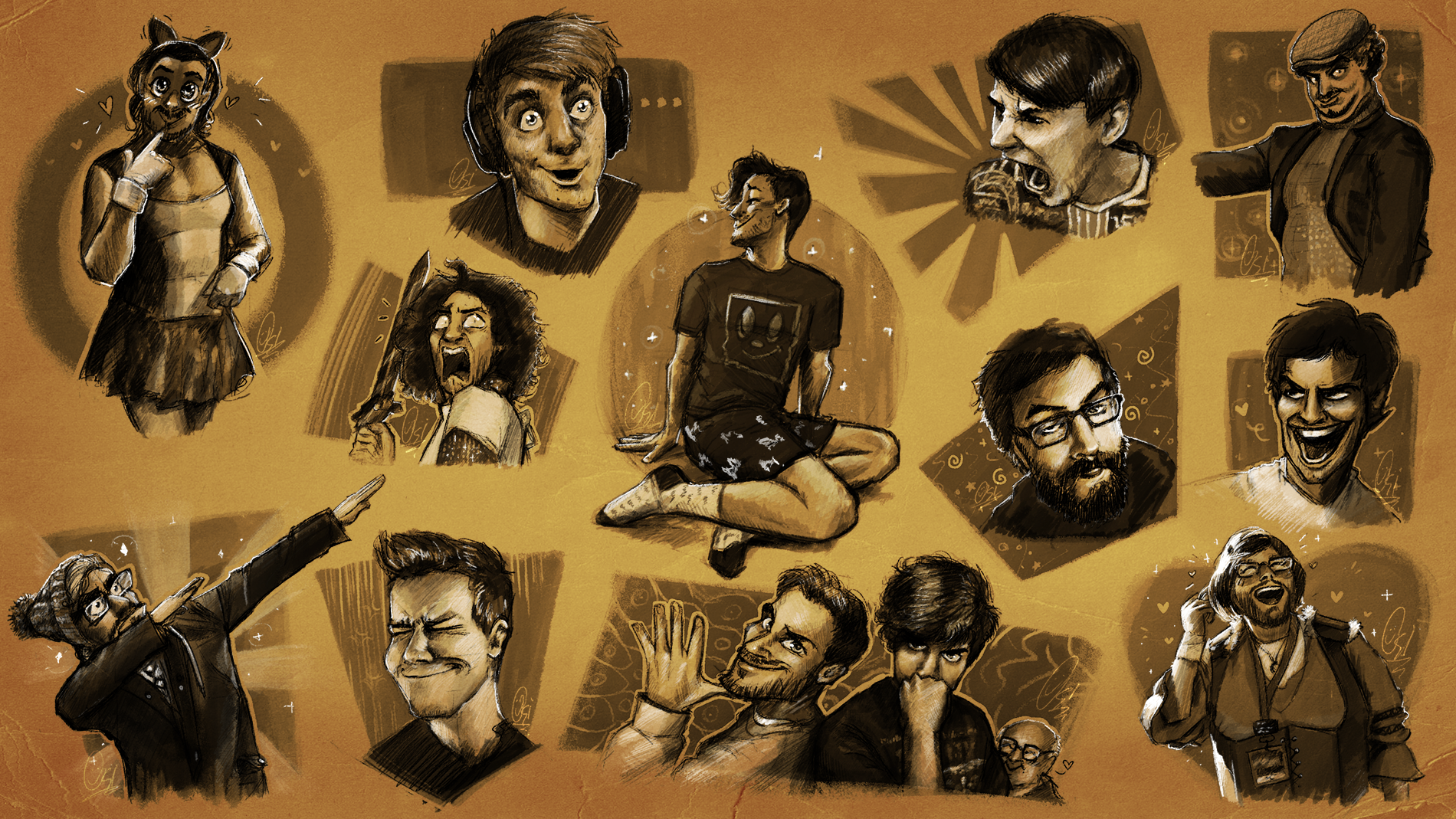 Scribs' Sketchbook - Facial Expressions and Poses by ScribbleNetty