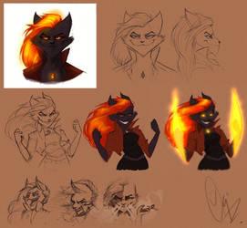 Character Design - NightmareNetty by ScribbleNetty