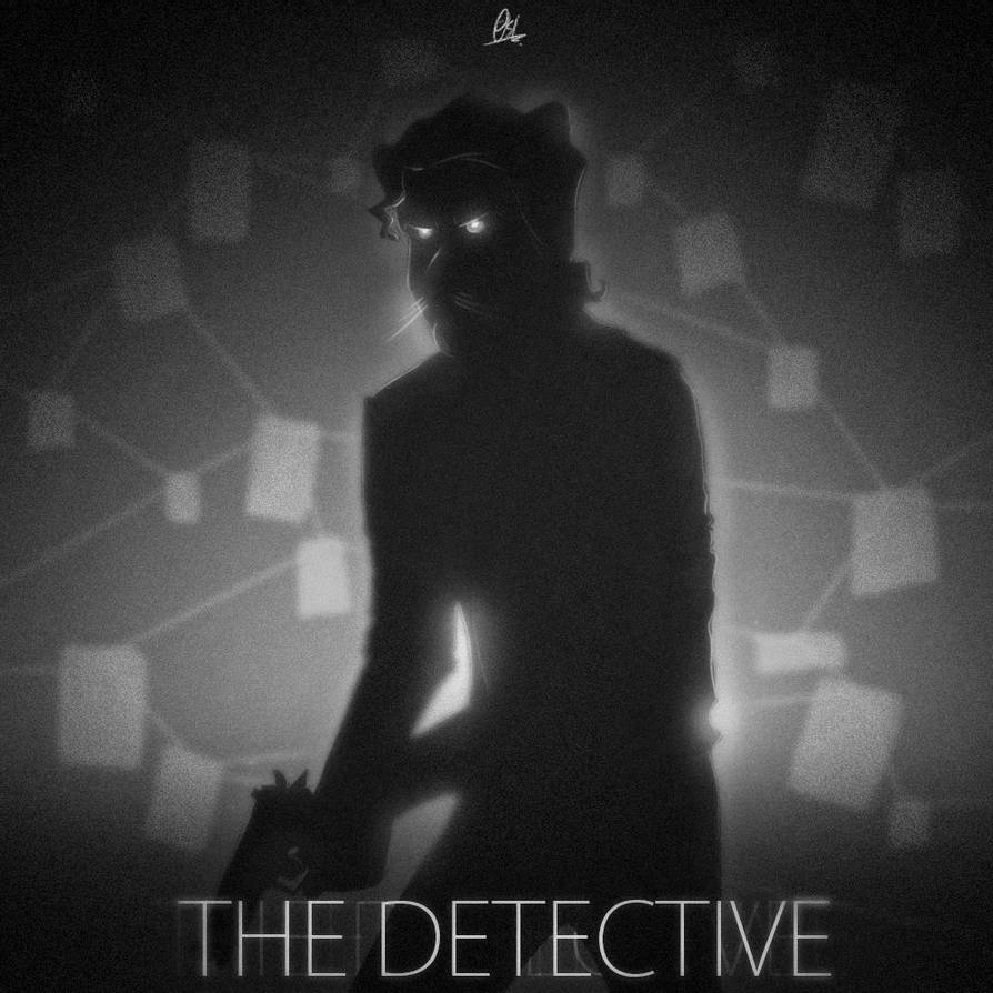 Silhouette scribble - The Detective by ScribbleNetty