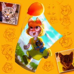 OC - Character Design - Sunny Pumpkin by ScribbleNetty
