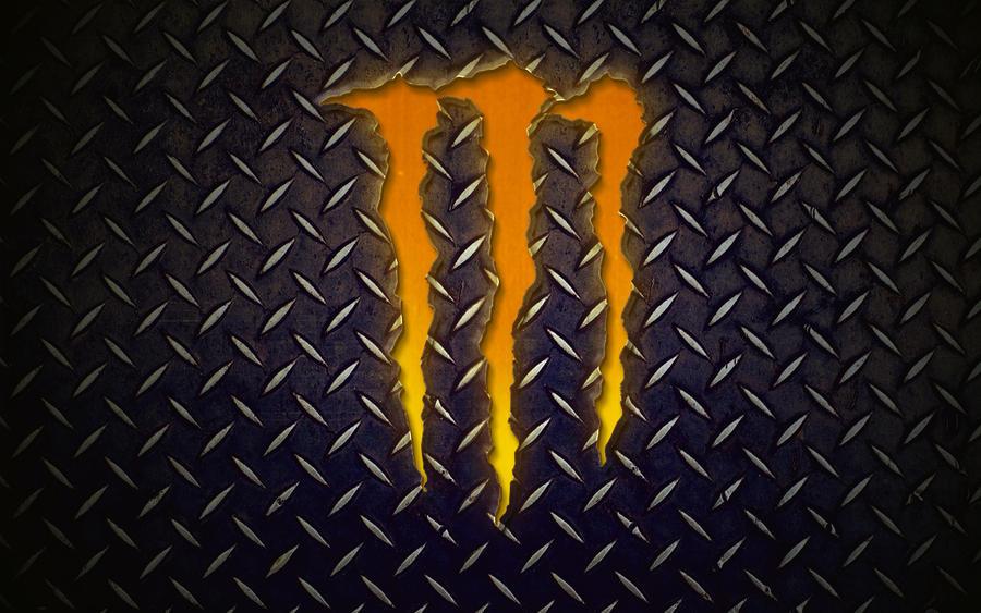 red monster logo wallpaper hd