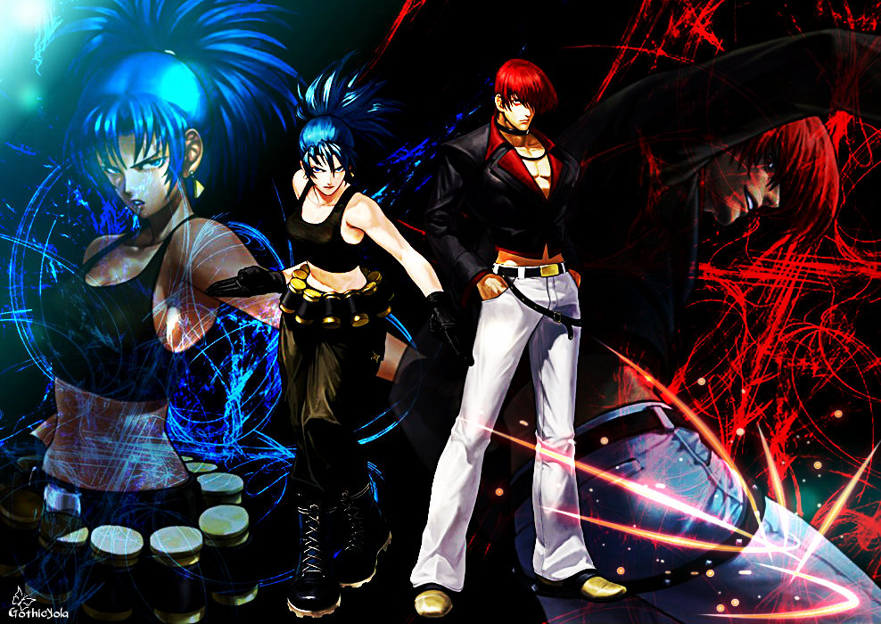 Wallpaper Leona and Iori KOF XIII by GothicYola