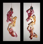 Falling Figures, front and back view. 7'