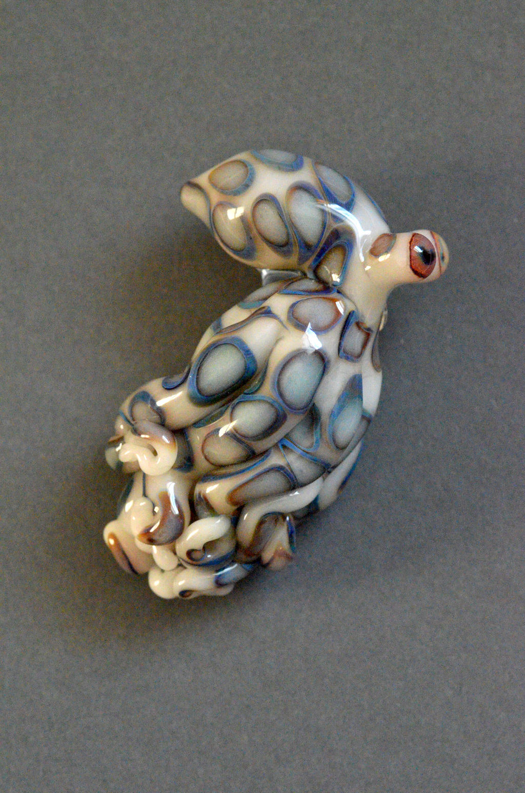 Blue Ring Octopus Pendant by cold-in-the-north