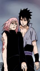 Sasuke\Sakura manga color