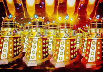 Daleks art by KairoEgypt