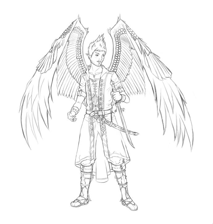 Line Art Wings : Wings line art by riluna on deviantart