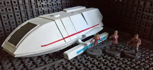 28mm Scale Star Trek Starfleet Shuttle by StephenJD