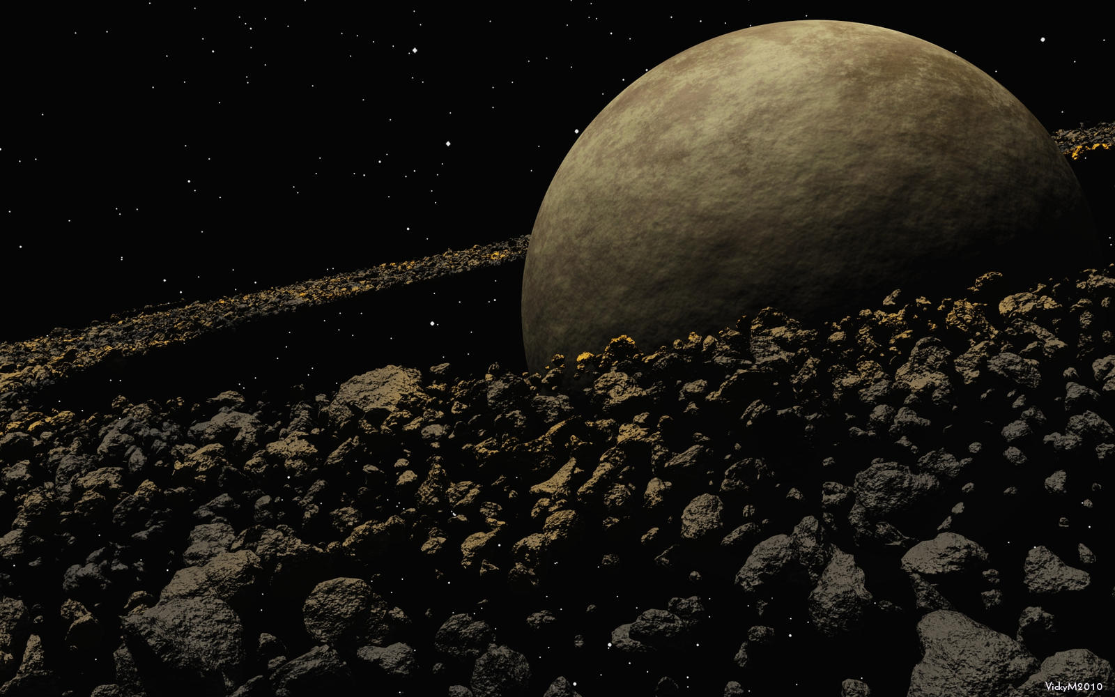 The asteroid belt orbits the sun in between mars and jup ...