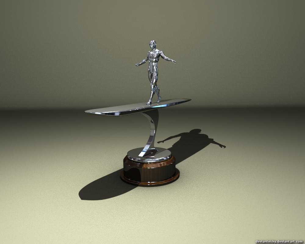 Silver Surfer Statue by VickyM72
