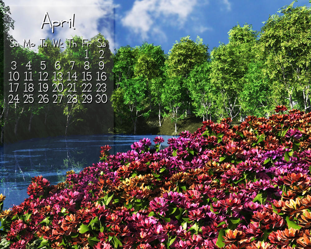 April Calendar by VickyM72