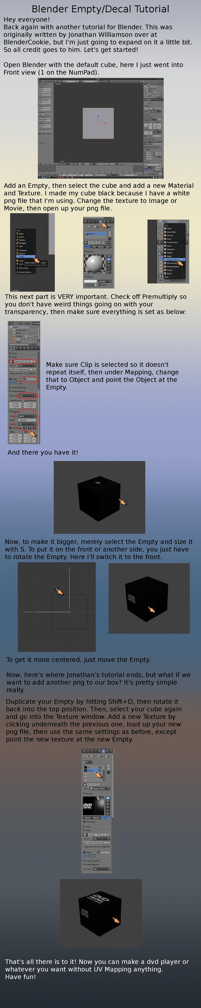 Blender Empty Decal Tutorial by VickyM72
