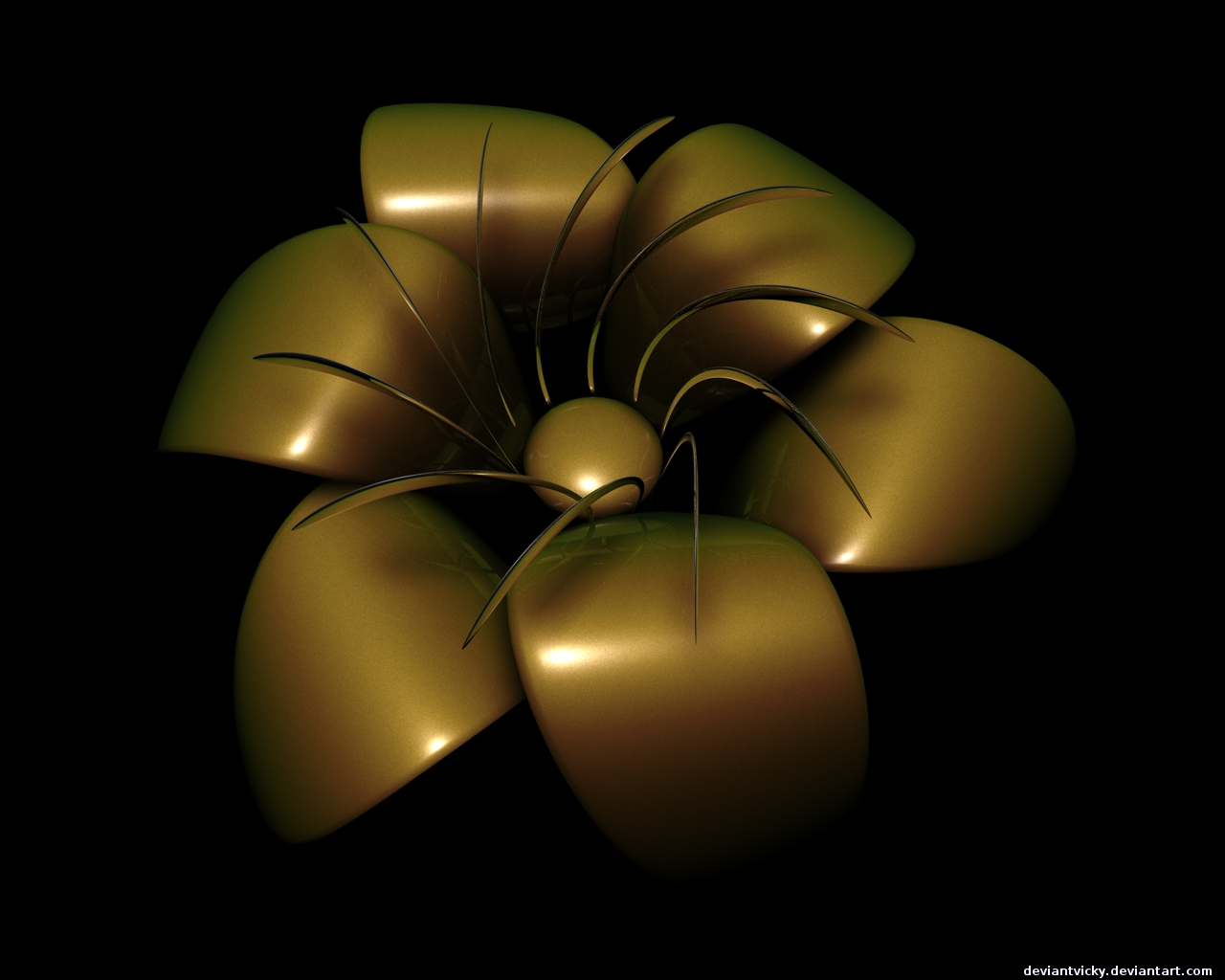 Golden Flower by VickyM72 on DeviantArt