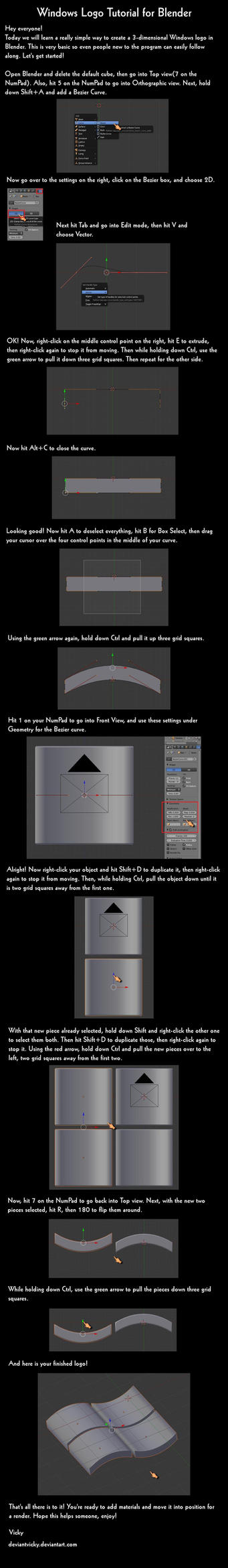 Windows Logo Tutorial by VickyM72