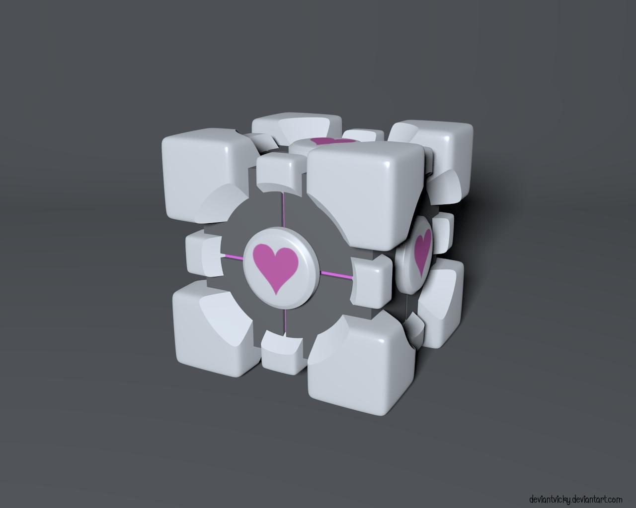Portal Cube by VickyM72