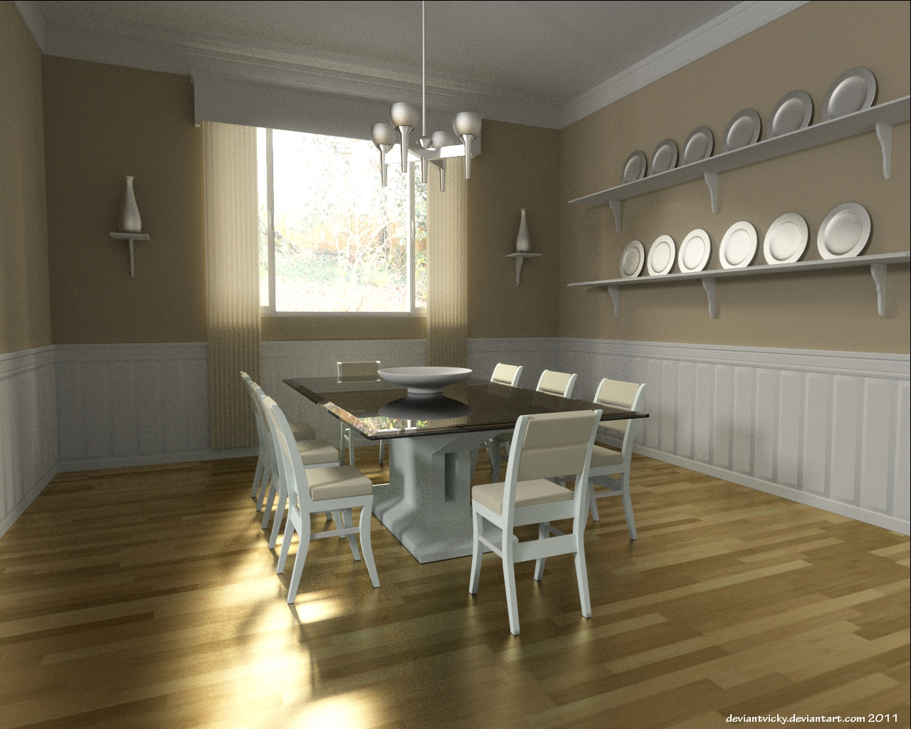 Cycles Dining Room by VickyM72