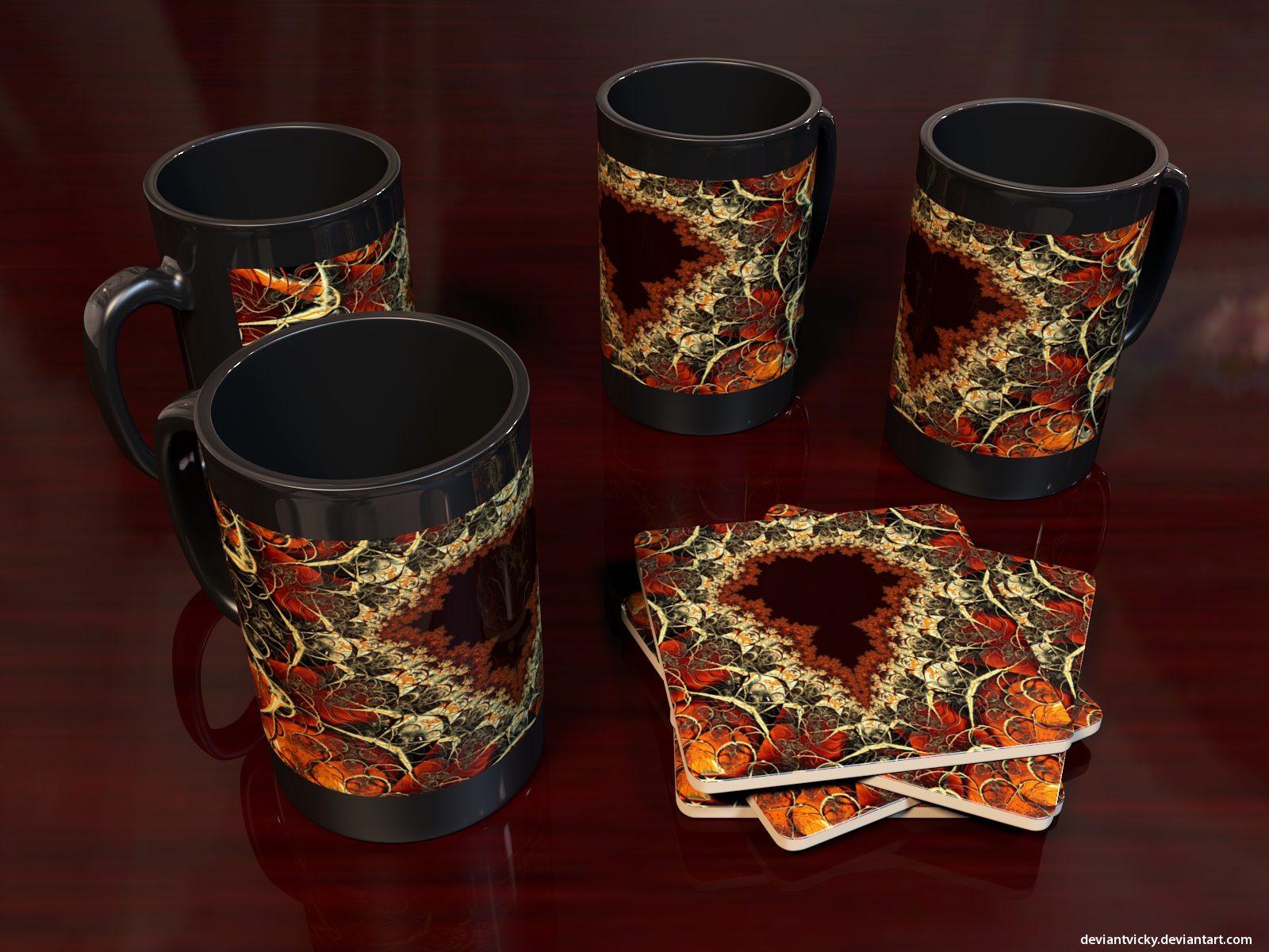 Mandelbrot Coffee Mugs by VickyM72