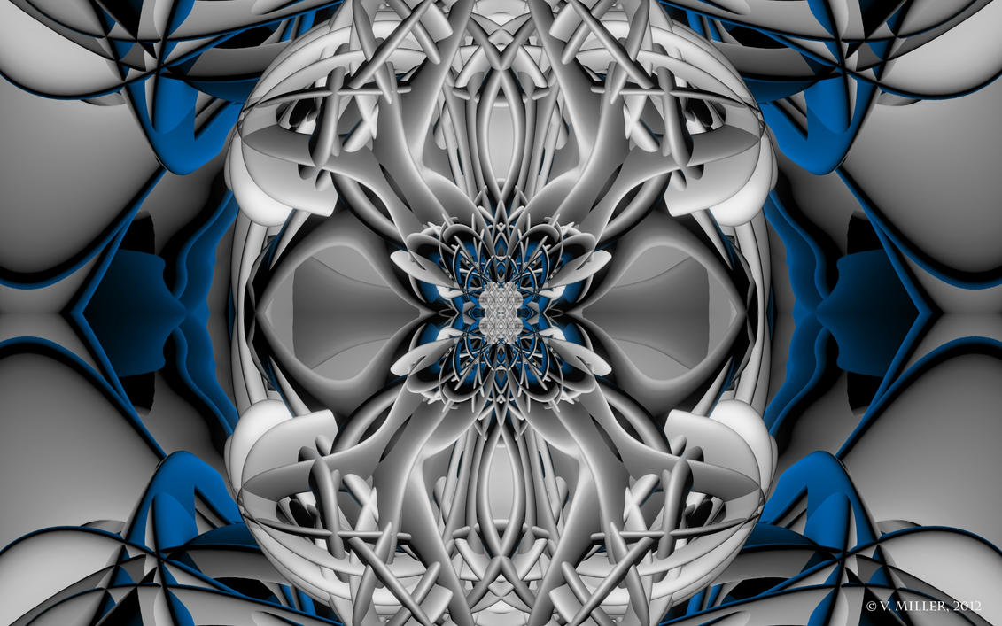Symmetrical Abstract Wallpaper by VickyM72