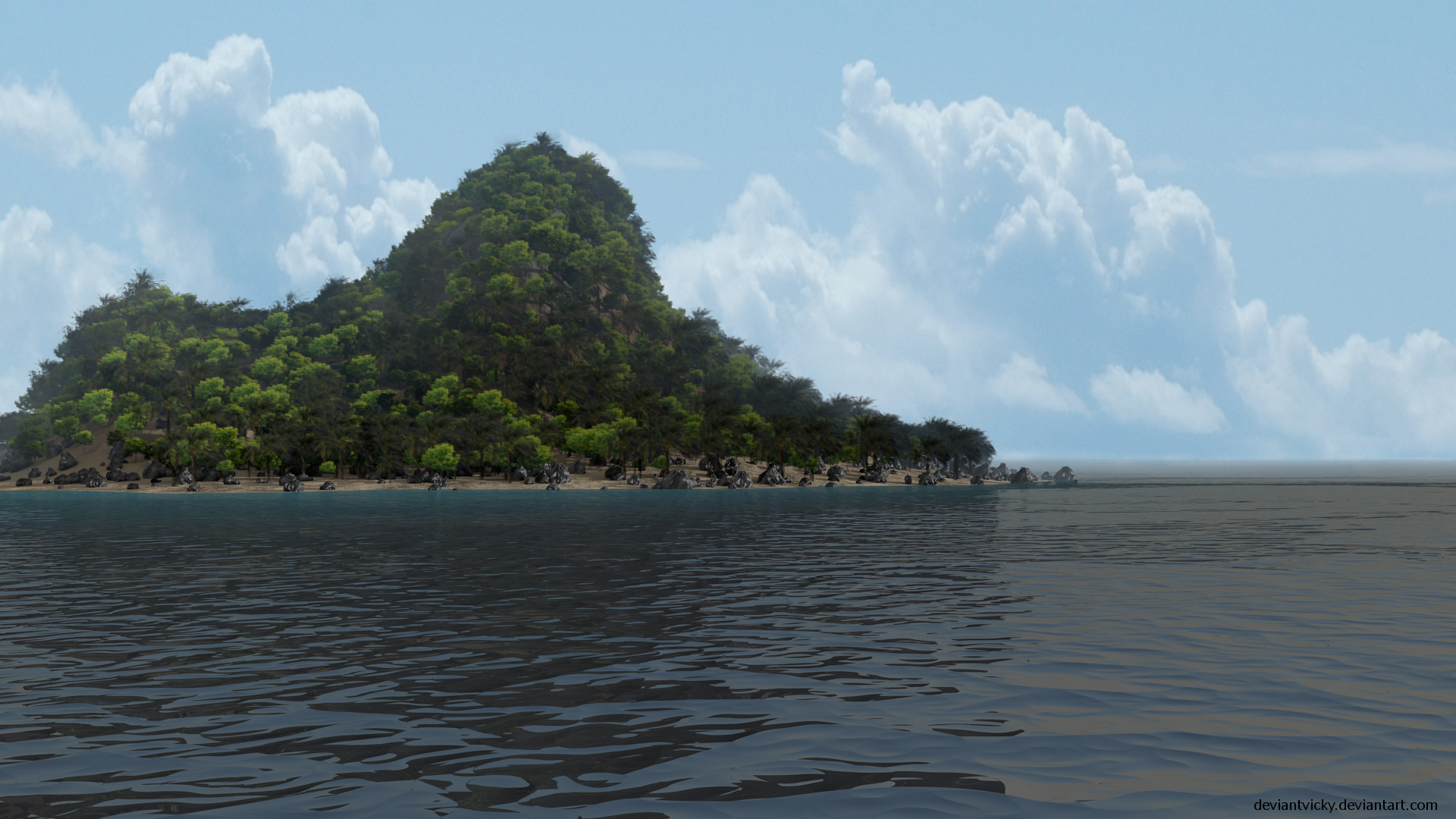 New Island by VickyM72