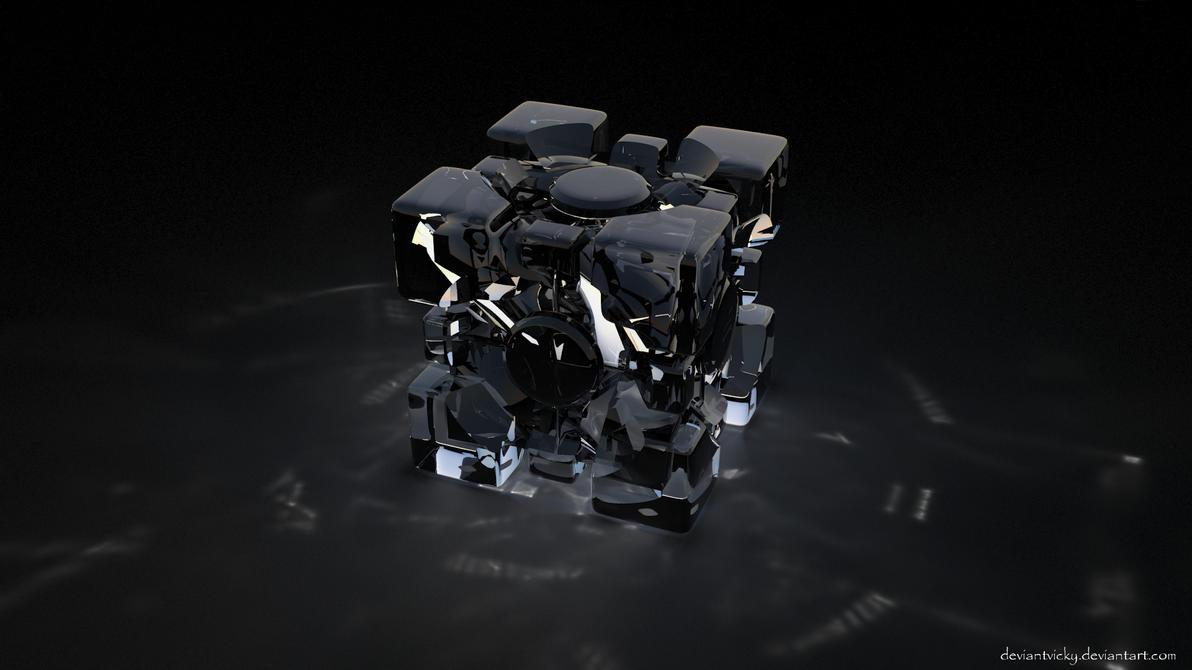 Glass Portal Cube by VickyM72