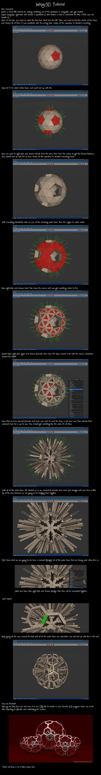 Wings3D Geodome Tutorial by VickyM72