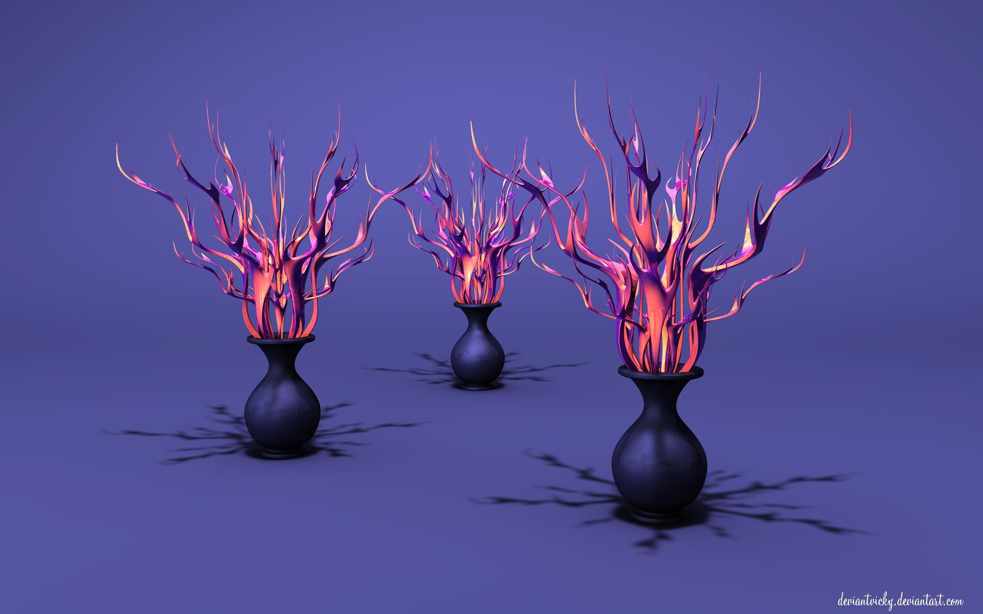 Flame Pots by VickyM72