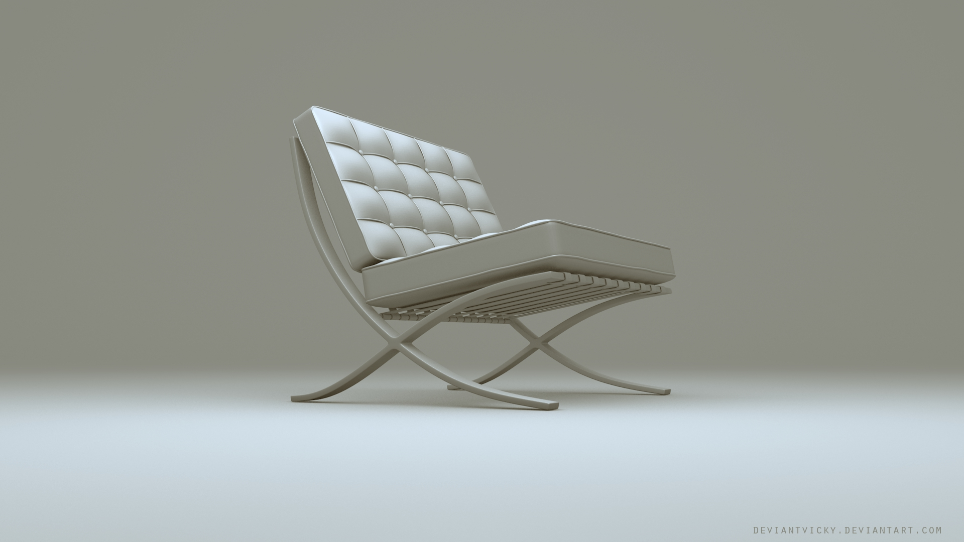 Barcelona Chair by VickyM72