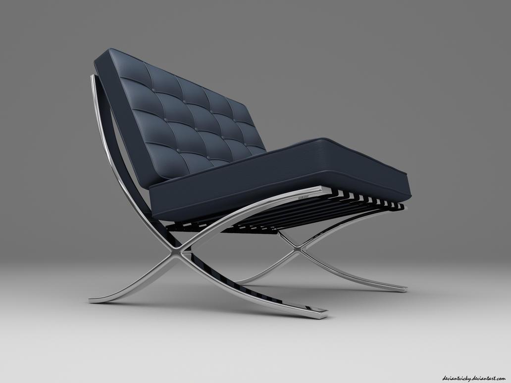 Barcelona Chair 1 by VickyM72 on DeviantArt