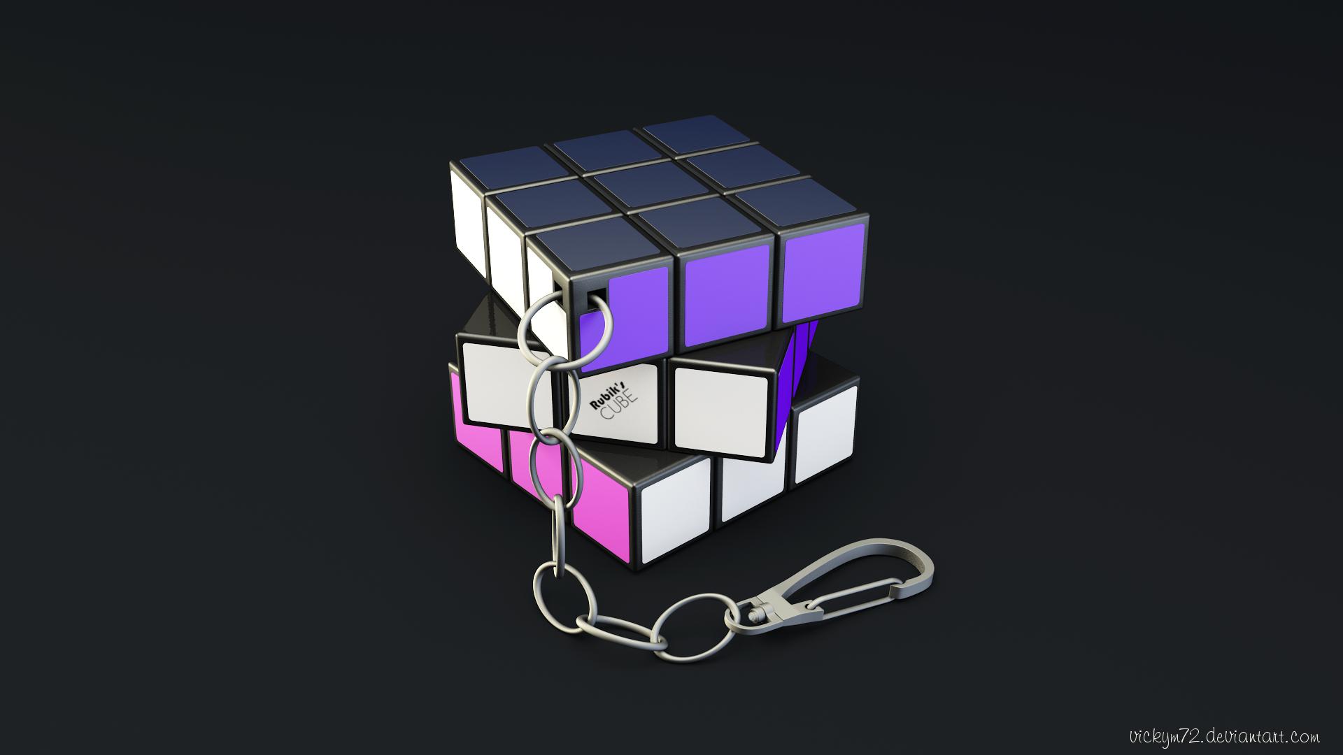 Rubik's Cube Keychain by VickyM72