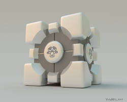 Blender Companion Cube by VickyM72